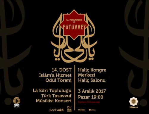 """14. """"Dost"""" İslam'a Hizmet Ödülleri"""